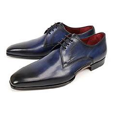 MAGNANNI 經典復古刷色德比紳士鞋 藍色
