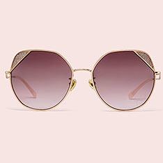 LA MODE 「PINK BY JILL STUART」眼鏡系列 - ALLISON -閃亮玫瑰金色/閃粉紅色