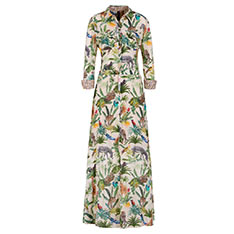 MARCCAIN 叢林主題印花連衣裙