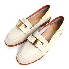 SM 法式蝴蝶結樂福鞋 (米色)