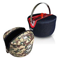 瑞康屋 牛仔系列防溢提鍋附提袋19cm+麻吉貓迷彩趣露營提鍋袋19cm