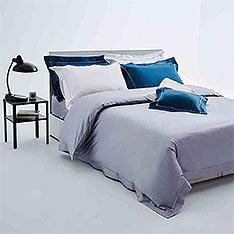 BBL 鉑萊頓100%黃金匹馬棉,淺灰雙人四件式床包組(同款)+BBL Premium100%棉厚織緹花地墊