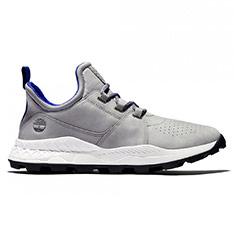 Timberland 男款中灰色布魯克林休閒鞋 | A2J3AF49 (中灰色)