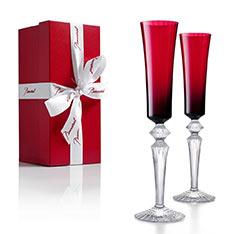 Baccarat MILLE NUITS紅寶香檳杯一對