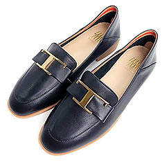 SM 法式蝴蝶結樂福鞋 (黑色)