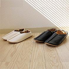 UCHINO 皮製保暖室內踩腳拖鞋