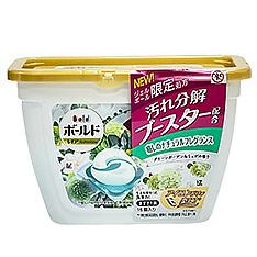 日本P&G香氛洗衣果凍球-綠白