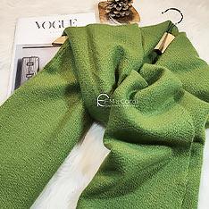 F.M&Carol卡蘿米爾 100%純喀什米爾羊絨披肩-薄香松綠