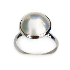 Ladear 天然MABE珍珠戒指