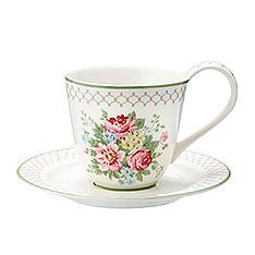 GREENGATE Aurelia white 杯盤組