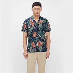 J.LINDEBERG 熱帶植物印花襯衫