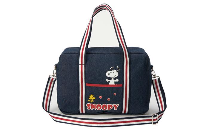 【卡友消費來店禮】SNOOPY暖心牛仔旅行袋