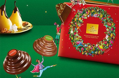 B1 GODIVA聖誕巧克力 11/9新品上市