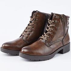 kadia街頭率性魅力綁帶中筒軍靴
