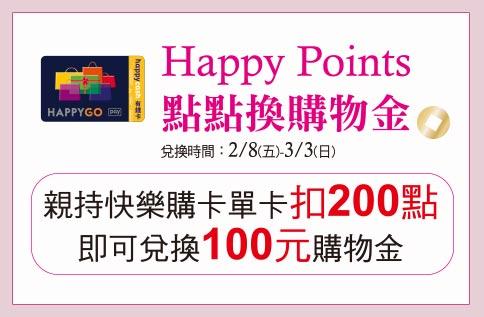Happy Points點點換購物金