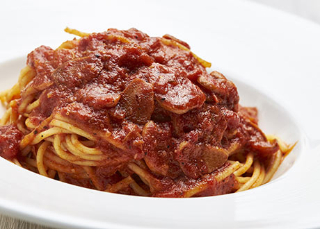 蕃茄香蒜義大利麵