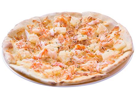 明太子海鮮披薩