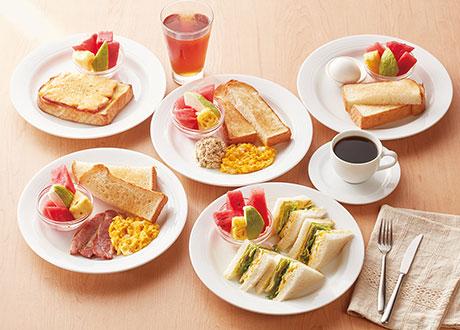 鮪魚+吐司+蛋+水果