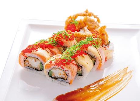 軟殼蟹鮭魚照燒捲