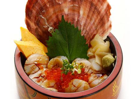 炙燒北海道干貝丼