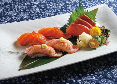 鮭魚組合握壽司