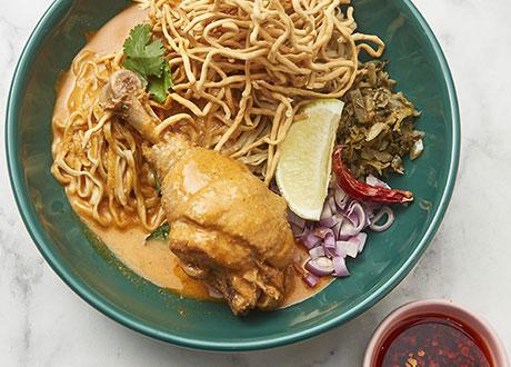 泰北雞肉咖哩蛋麵