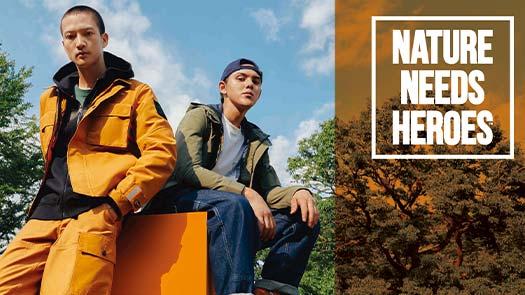 復興館6F Timberland新品登場Nature Needs Heroes