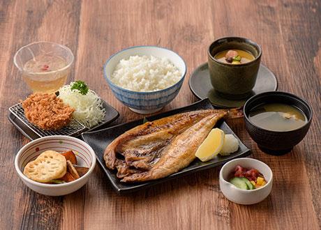 鹽烤花魚膳