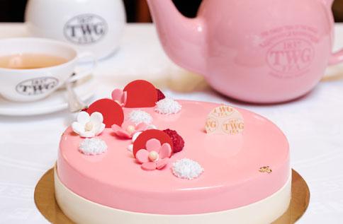 B2 TWG Tea玫瑰芬香茶慕斯蛋糕