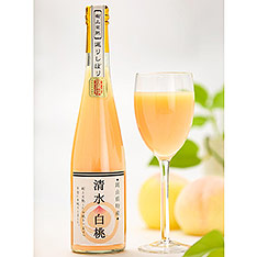 岡山縣 「翠果撰」清水白桃果汁 500ml