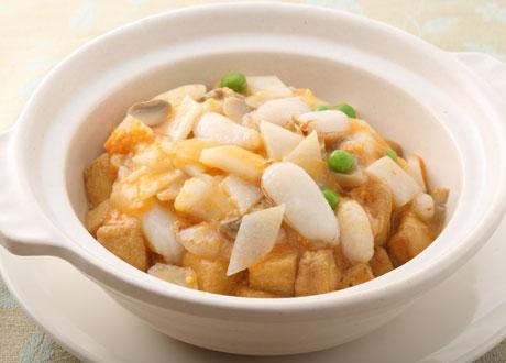 蟹粉豆腐煲