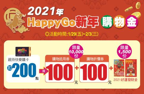 2021年 Happy Go新年購物金