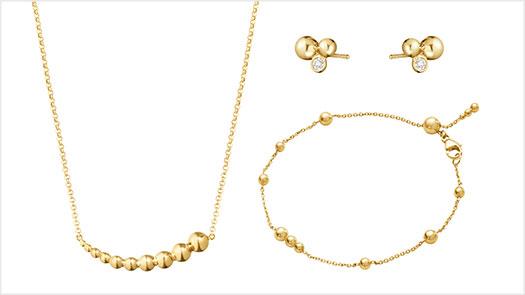 復興館3F Georg Jensen 2021春夏新品上市 Moonlight Grapes 18k黃金系列