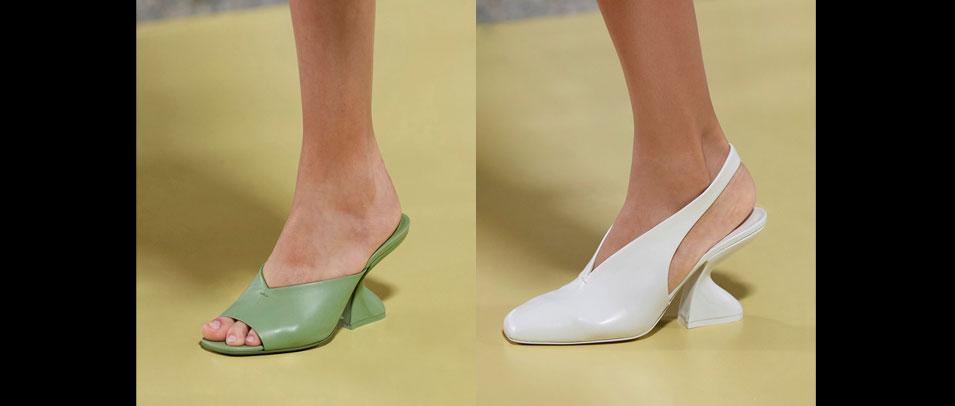 Salvatore Ferragamo 2021春夏推出全新F形跟鞋