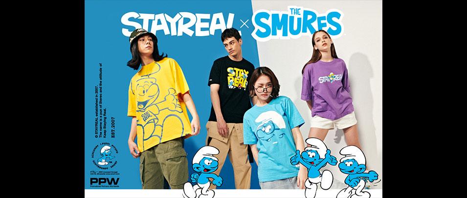 忠孝館B1 ROCKCOCO【STAYREAL x THE SMURFS】藍色小精靈聯名系列首度曝光