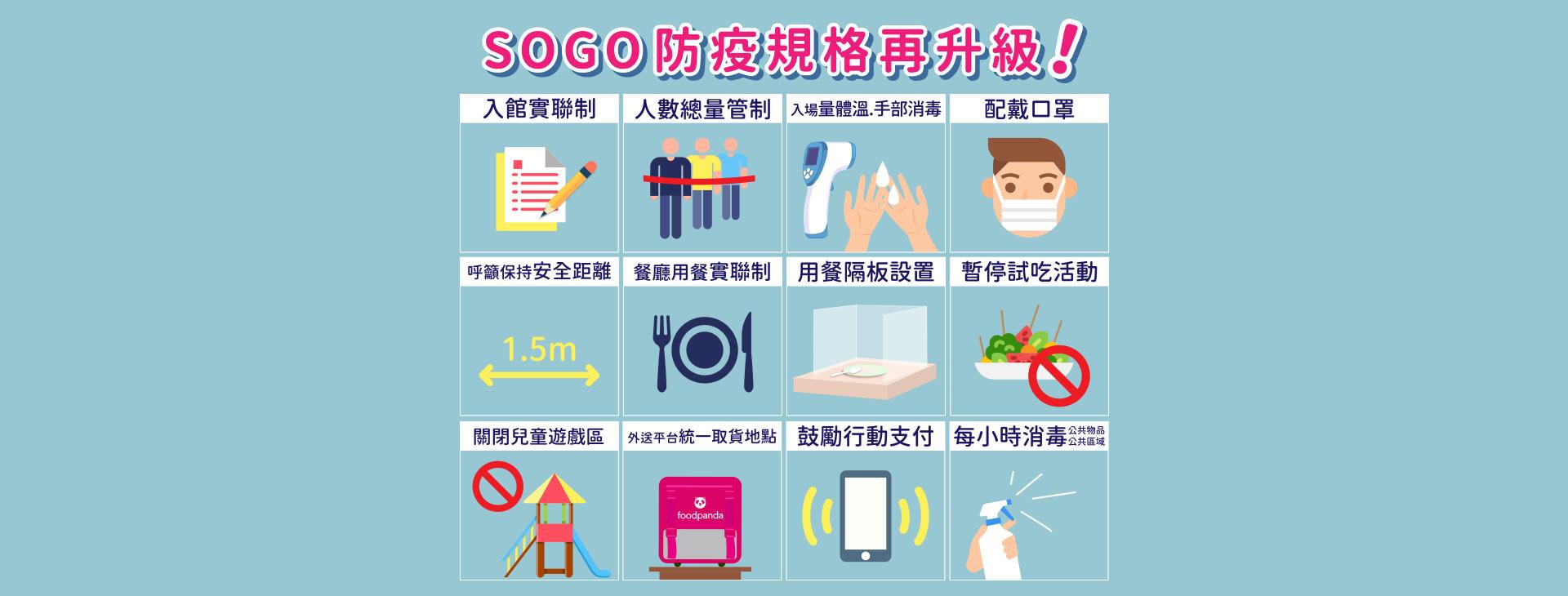 SOGO防疫規格再升級