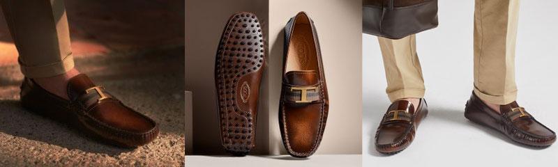 Timeless皮革豆豆鞋