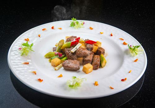 紫蘇炒牛肉粒