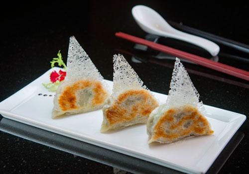 網花煎素餃子/3粒
